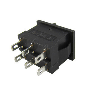 6 Pins 3A 250V ON-OFF/ON-OFF-ON Rocker Switch t85/55, Communication Equipment Using