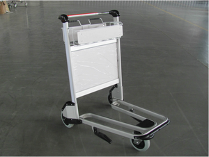 Aluminium airport baggage trolley cart with hand brake