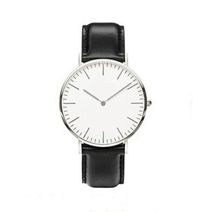 AMEXI Custom Made High Quality Leather Belt Watch Fashion Stainless Steel shell Quartz Watch