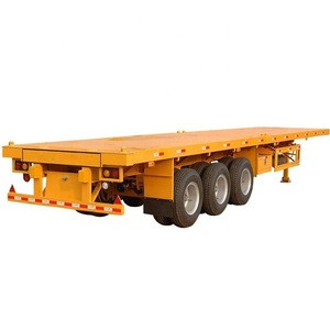 Best Selling 2 Axles 40FT Flatbed Container Semi Trailer for Sale