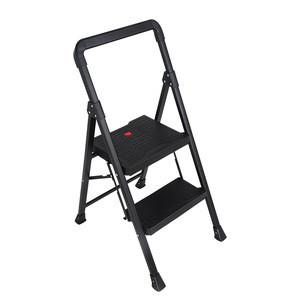 Cast-iron scaffold ladder chair with big platform