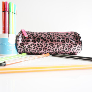 Cheap High Quality leather student stationery Pencil Bag