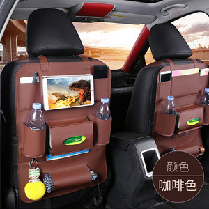 Cheap Wholesale Multifunction Waterproof PU Leather Back Seat Car Seat Backseat Storage Organizer Bag Low MOQ