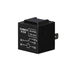CHSKY Waterproof Auto Relay 12v  40a 5pin Long Life Automotive Relay Normally Open Auto Relay Black Red Copper Terminal CH-40215