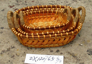 Craft wicker basket beautiful and eco-friendly