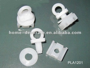 Curtain rail plastic end stopper