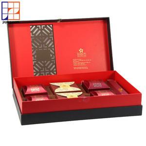 Custom luxury gift box rigid paper food packaging mooncake box