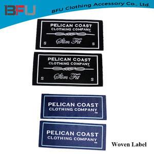 Custom woven damask hot cut woven label tags
