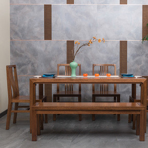 Dining room wooden tables and chair furniture / restaurant furniture set