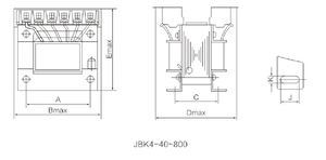 Factory direct sales auto transformer mall-sized dry-type ONFN transformer 40VA-800VA JBK Series