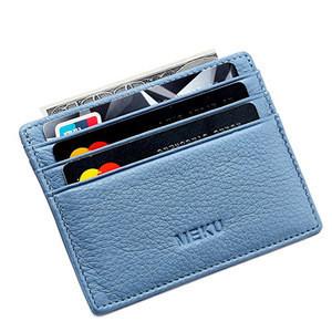 Full Grain Genuine Leather Men Front Pocket Credit Card Holder Wallet