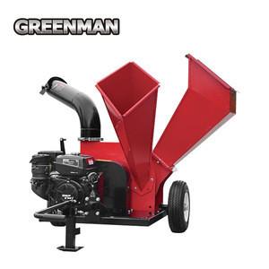 Gasoline engine powered wood chipper/shredder