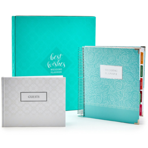 High quality wedding planner/wedding guest book with box/wedding journal with tab divider printing