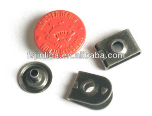 Hot sale 17mm painting denim metal garment hook and eye for trousers