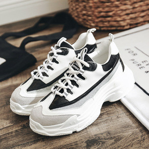 Hot sale height increase women sport shoes Wholesale ladies custom logo running shoes 2018 athletic sneakers for women