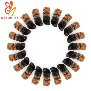 Hot sale professional heat resistant fiber crochet twist braid chignon hair