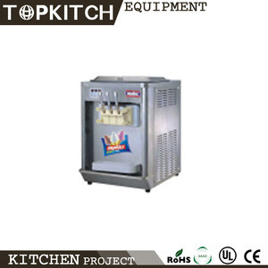 Italy Compressor Pre Cooling System 3 Flavor CE Approved Soft Serve Ice Cream Maker