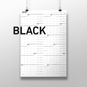 """Large Wall Calendar, Paper Surface, 25"""" x 36"""", Monday First"""