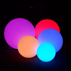 Led glow ball swimming pool floating ball light led waterproof garden led ball