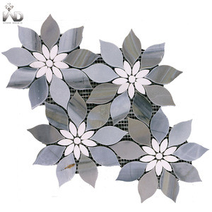 Modern flower marble mosaic for wall and shop tile