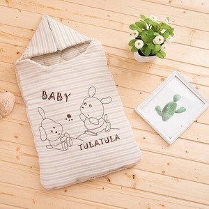 Organic cotton winter newborn sack double zipper design lovely baby sleeping bag
