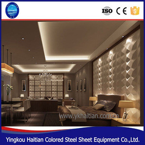 PVC decor 3D pvc ceiling tiles embossed background home decoration Waterproof PVC 3D ceiling Wall Panel