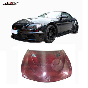 Red Carbon Fiber 6 Series E63 HOOD for BMW E64 Bonnet for BMW 6 Series body kits High Quality 2004-2009 Year