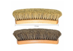 Shoe brush with horsehair