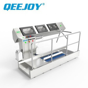Shoe Sole Cleaning Equipment With Hand Washer Large Industry Sole Sterilizer Cleaning Machine