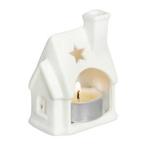 Snow White Cottage House Tea Light Holder Christmas Candle Lantern