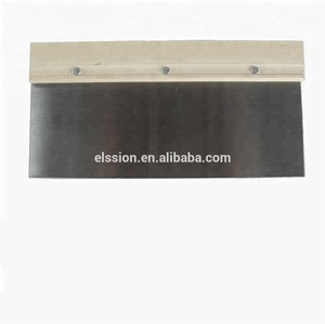 Stainless steel / Carbon steel Scraper , putty knife with wooden handle