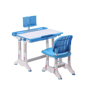 Tilt switch Height adjustable Folding Kids Study Table Chair children+tables reading desk with Rack