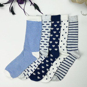 Wholesale Bulk Custom Cheap Polyester Ladies Fancy Socks Female Polyester Socks