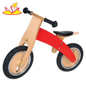 Wholesale customize wooden balance bicycle help kids learning riding bike faster W16C014