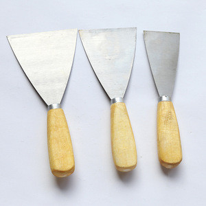 Wood Handle Stainless Steel Flexible Scraper Paint Putty Knife