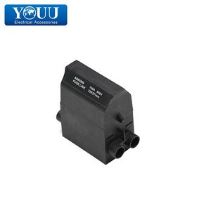 YOUU Import China Goods Waterproof Black Low Voltage Service Fuse Front Wired 30*57 80A Nylon And Copper Material