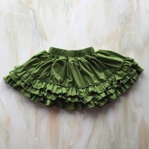 YY-192 baby ruffle hem skirt dress mini ruffle pencil skirt girls sewing pattern
