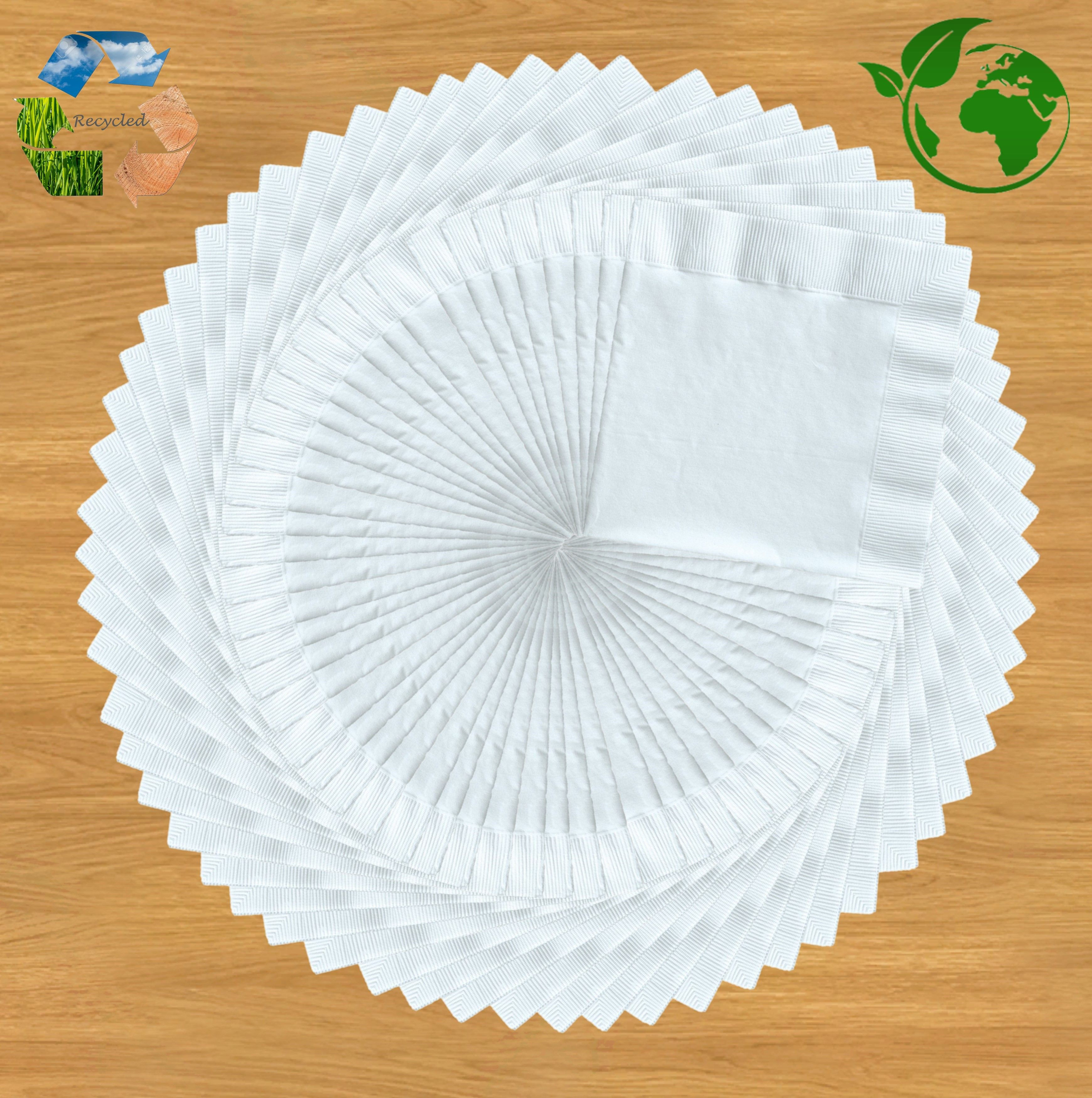 Bamboo Paper Napkins Eco-Friendly For Dinner, Cocktail, Parties and Weddings