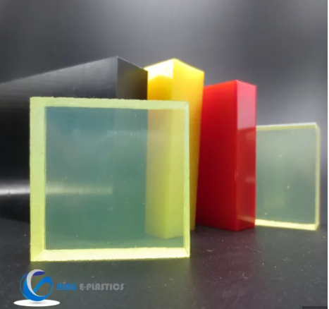 Plastics Polyurethane PU Sheet with 100% Polyester 85-95A