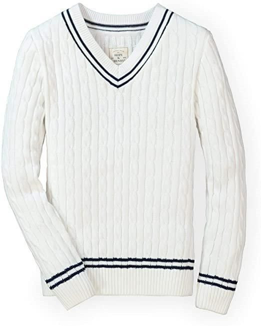 Cricket Clothing Sports Sweater Plain V Neck Heavy Wool Acrylec Cabel Knitted Full Sleeve Sweater
