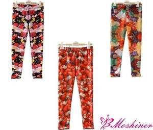 2014 new arrival kids leggings printed leggings custom wholesale kids leggings childrens trousers