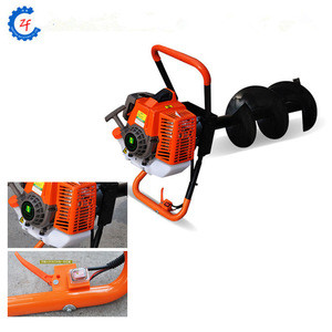 2018 new 63CC 2-stroke earth auger drill hole digging tools