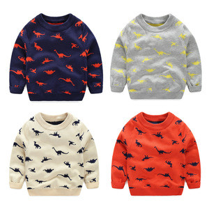 2019 Popular child boys round neck long sleeve baby boy pullover sweater