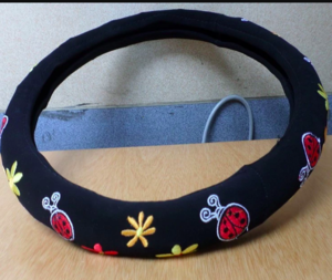 36CM 38CM Universal embroidery STEERING WHEEL COVER