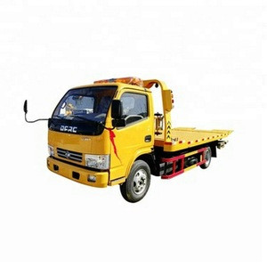 430 kg Rating under-hoisting capacity 140hp 4*2 dongfeng captain 5 ton 0 degree flatbed wrecker towing truck