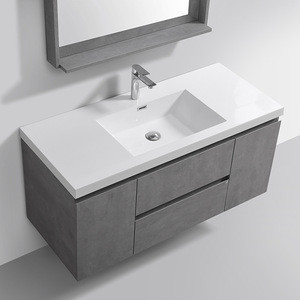 "48"" Modern Wall Hung Mounted Sink Cabinet Vanity Bathroom Furniture"