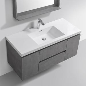 "48"" Modern Wall Hung Mounted Sink Cabinet Vanity Bathroom Furniture"