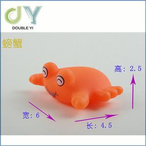 6pcs/set baby bath toy pvc floating animals for wholesale