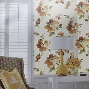 Beautiful flower Ink painting wallpaper for Home Decoration Factory direct cheap price Wall Paper waterproof