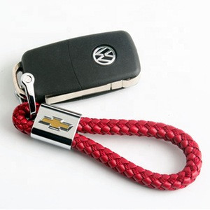 Best Selling products Handmade Leather Car Logo Engraved Metal Embossed Keychain